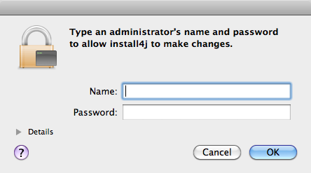 admin username and password