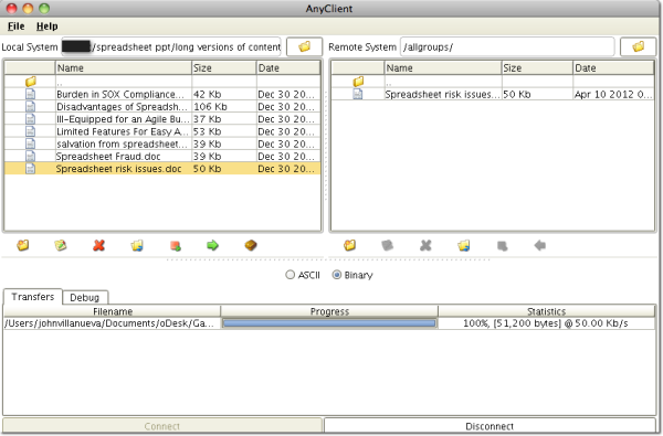 file transfer client