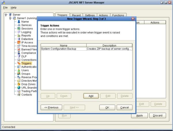 System Configuration Backup Trigger