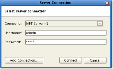 connecting to JSCAPE MFT Server 1