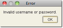ftp client failed login