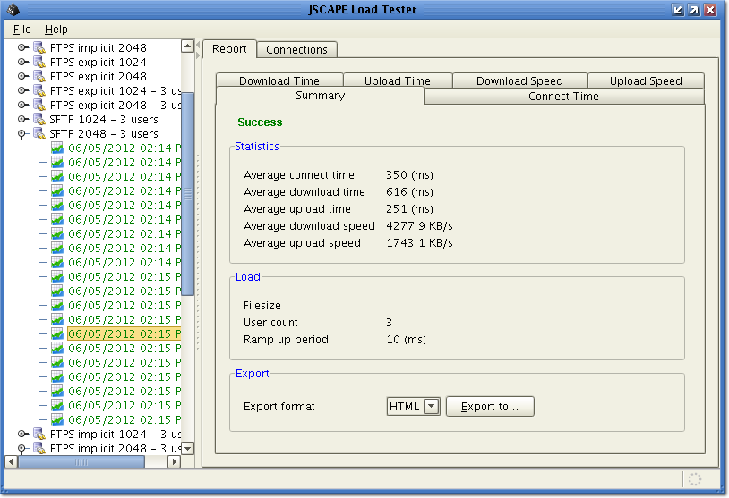 ftp load tester rsa 2048