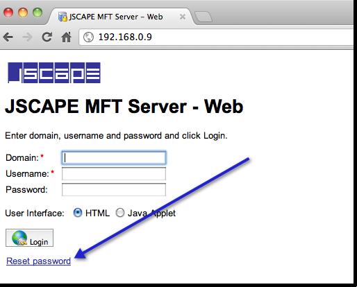 ftp web upload request password reset 2