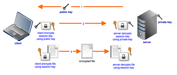 secure file transfers hybrid cryptosystem