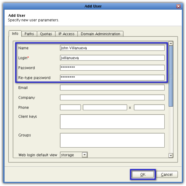 jscape mft server add user info resized 600