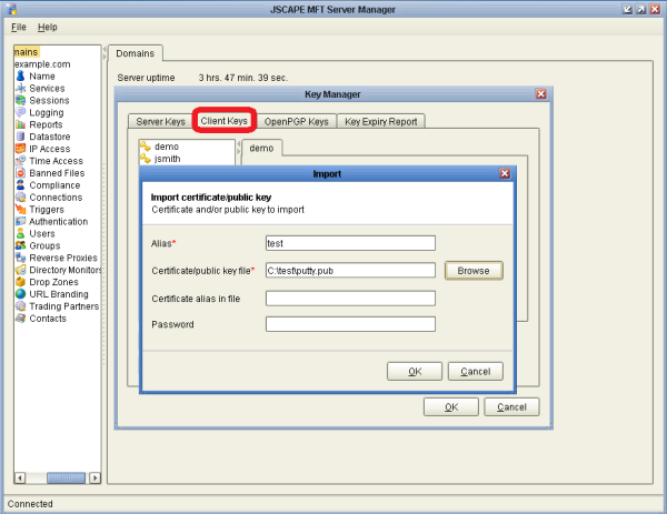 Public Key Authentication using Putty and WinSCP