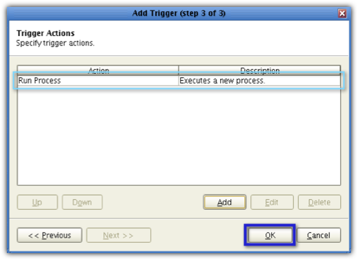 newly added trigger action
