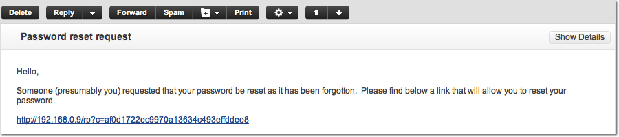 mft server email notification for password reset