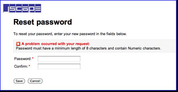 mft server password reset error