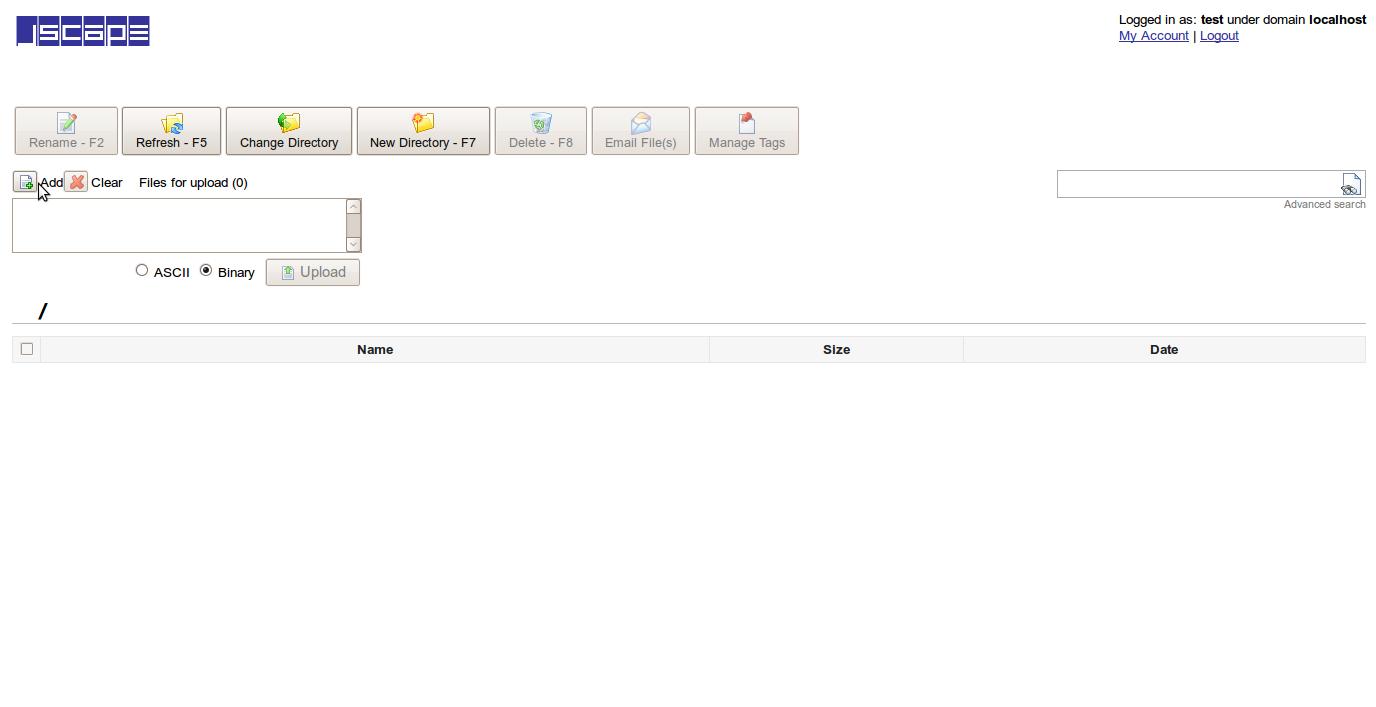 JSCAPE MFT Server Named User Upload