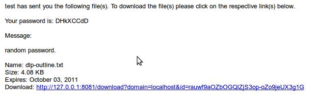 adhoc email random password notice