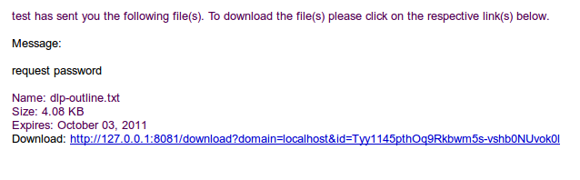adhoc email notice out-of-band password