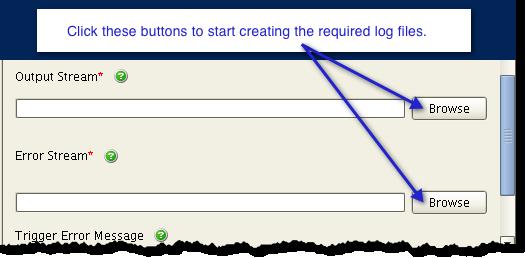 output stream error stream