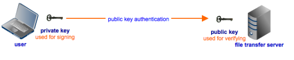 public key authentication for encrypted file transfer
