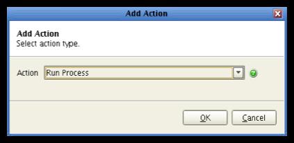 mft server - selection action type run process