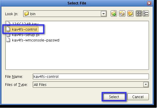select kav4fs control
