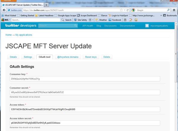 sending twitter updates FTP