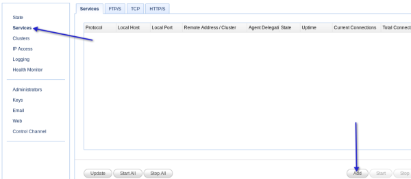 add ftp service to reverse proxy