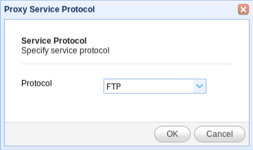 select ftp protocol for reverse proxy