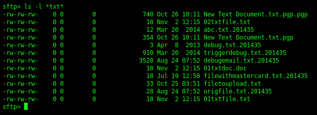 sftp-command-line-list-files-wildcard