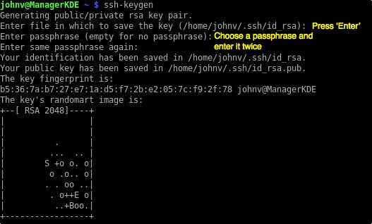 ssh generate public key fingerprint