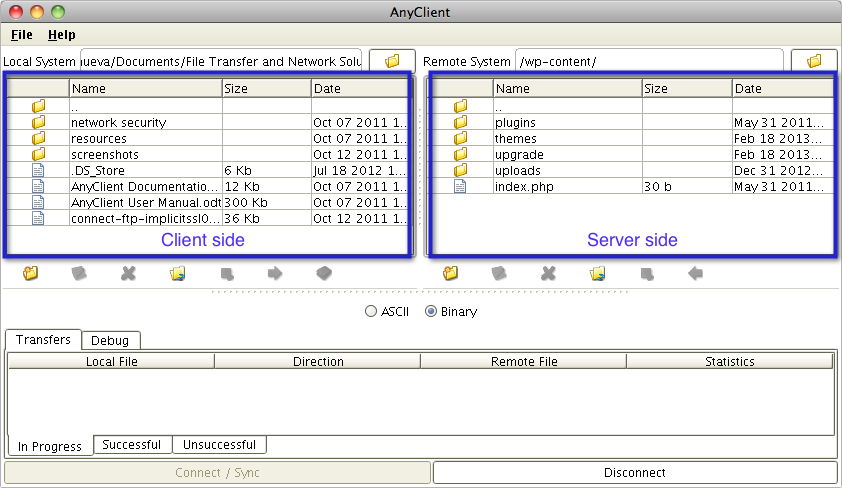 02 ftp client local remote directories