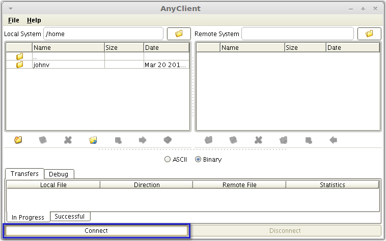anyclient connect