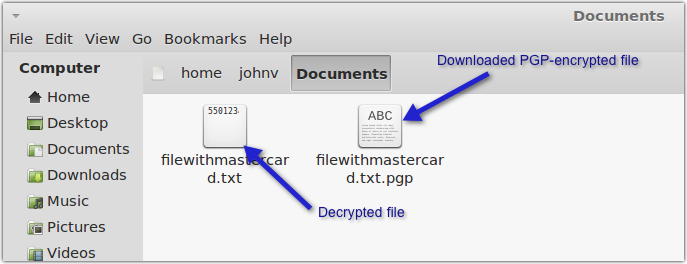 decrypted pgp file