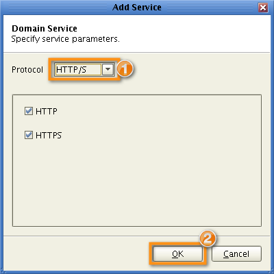 add domain service https parameters