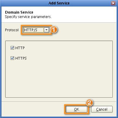 domain https service parameters