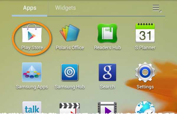 google play store in apps