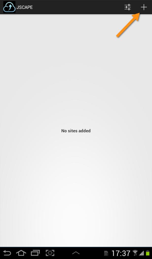 jscape mft server no sites added