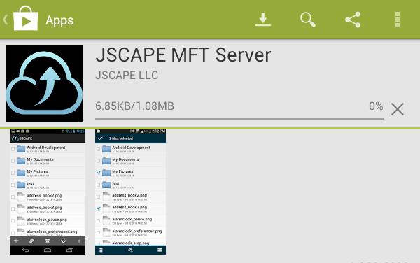 jscape mft server downloading
