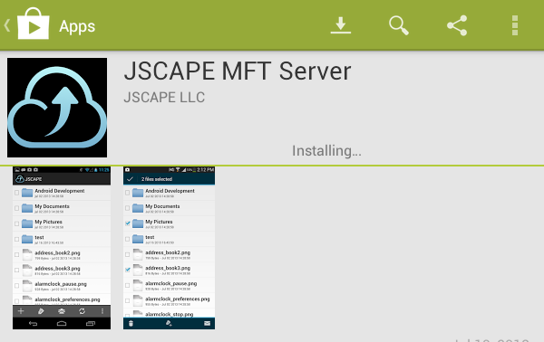 jscape mft server android installing