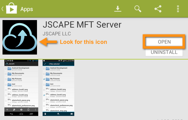 jscape mft server open or uninstall