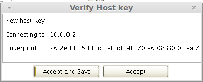 verify host key no highlight