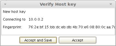 verify host key no highlight