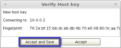 verify host key