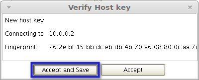 verify host key