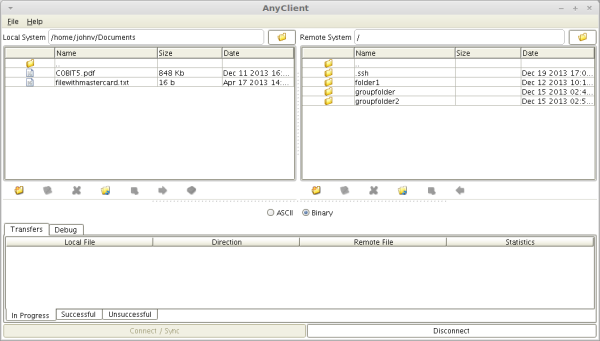 anyclient connected to sftp server resized 600