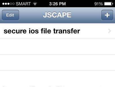 newly added site on iphone file transfer app