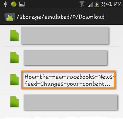 android file transfer navigate folders