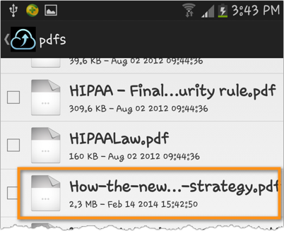 android file transfer newly uploaded file
