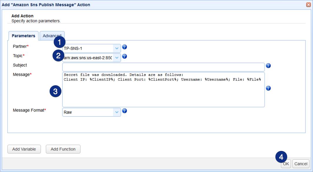 015 - amazon sns publish message parameters