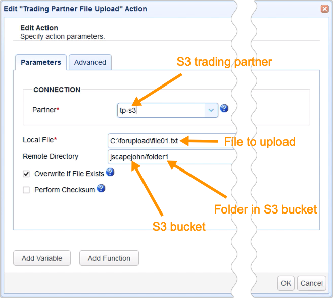 AWS KMS To Encrypt Files You Upload To Your S3 - trigger trading partner file upload action