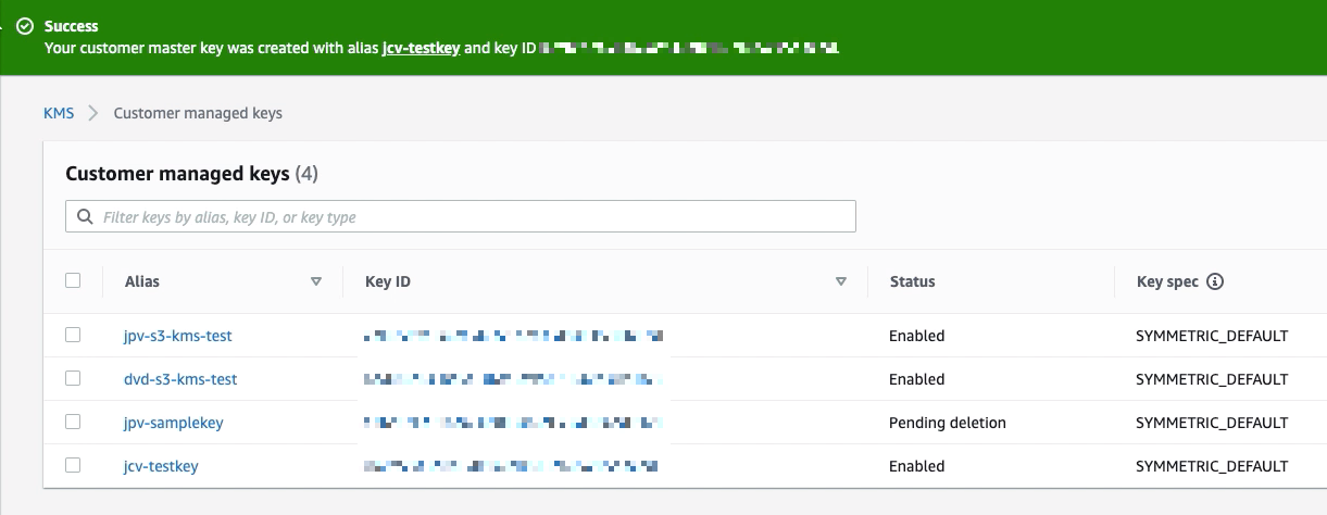 Using AWS KMS To Encrypt Files You Upload To Your S3 Trading Partner - newly created key