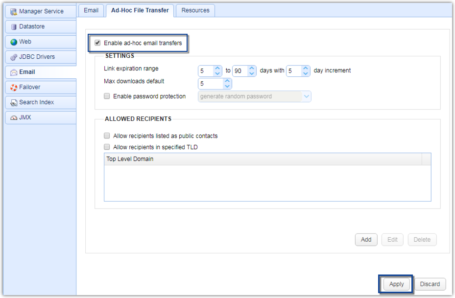 ad hoc file transfer