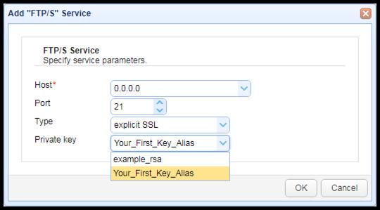 add ftps service protocol
