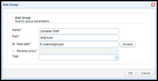 add group dialog mft server