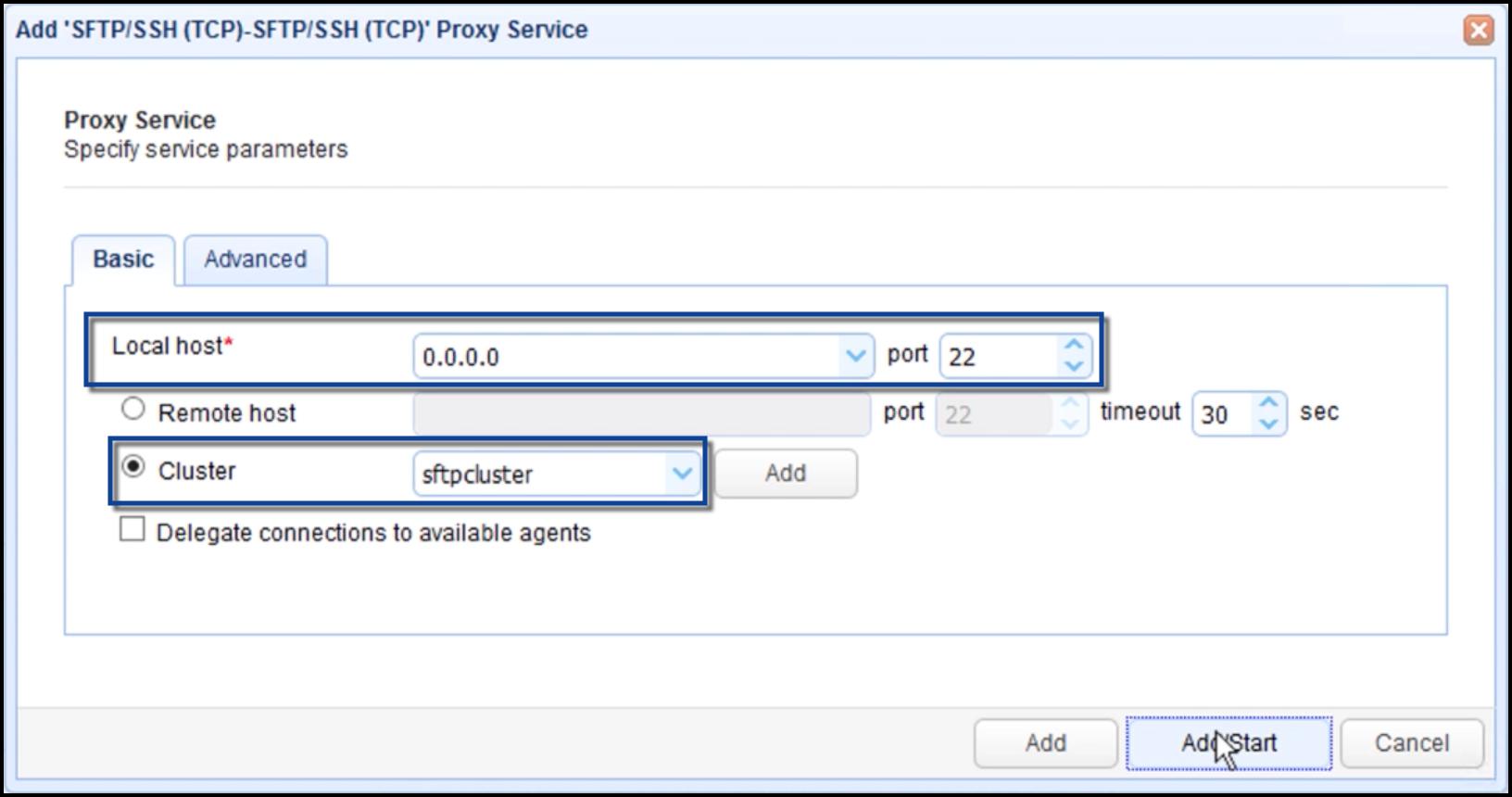 add proxy service parameters